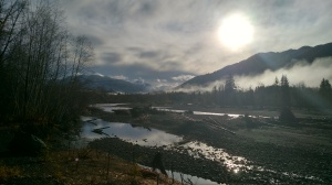 Hoh River in the sunshine